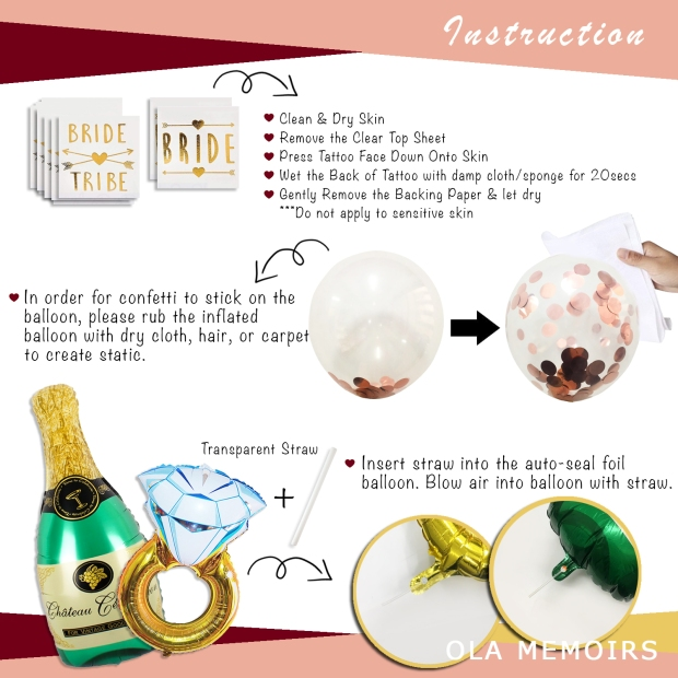 OLAMEMOIRS PARTY INSTRUTIONS