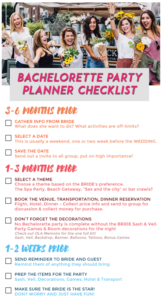 Bachelorette Party Planner Checklist
