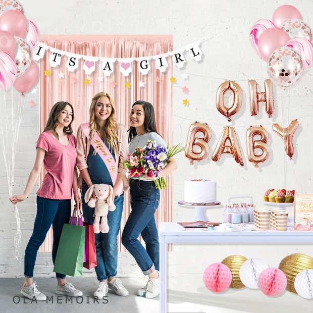 BABY SHOWER DECORATIONS SUPPLIES KIT SET