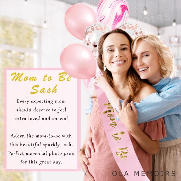 MOM TO BE SASH BABY SHOWER GIRL
