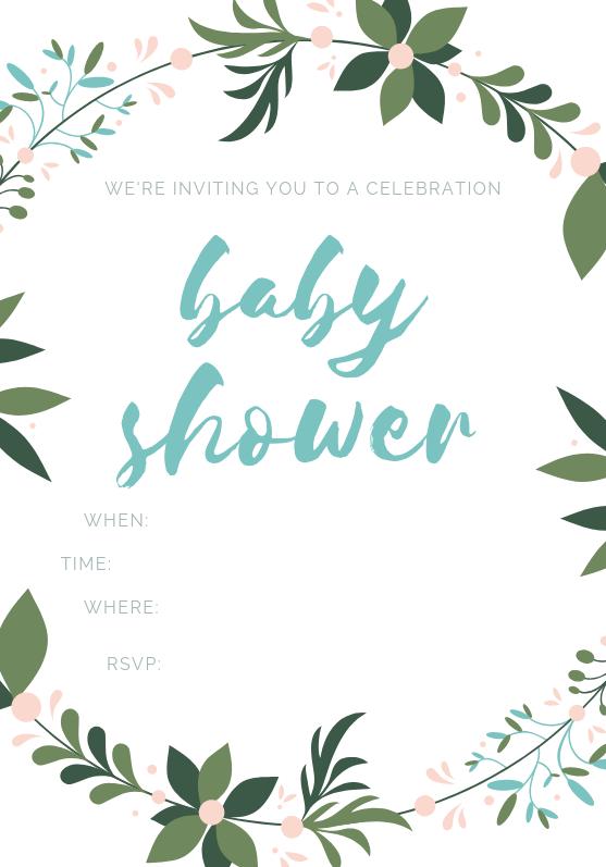 OLA MEMOIRS BABY SHOWER INVITATION FLORAL