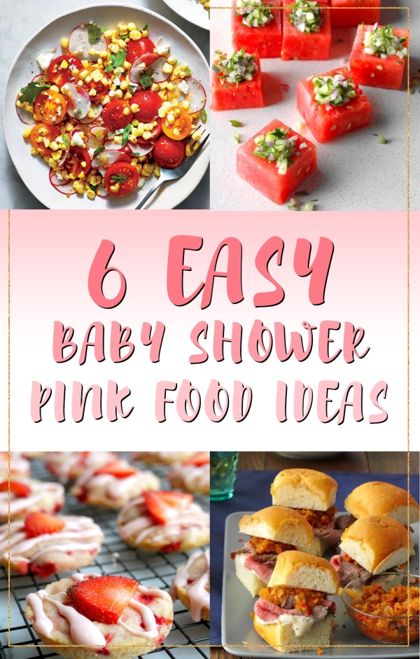6 Easy Pink Food Ideas For Baby Girl Shower Party