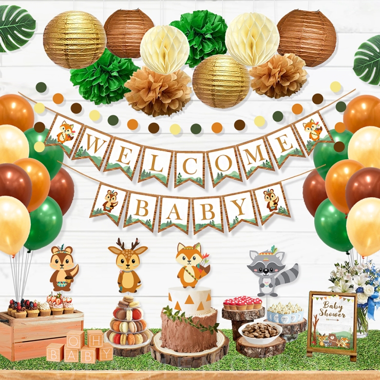 Woodland Animal Baby shower Decorations