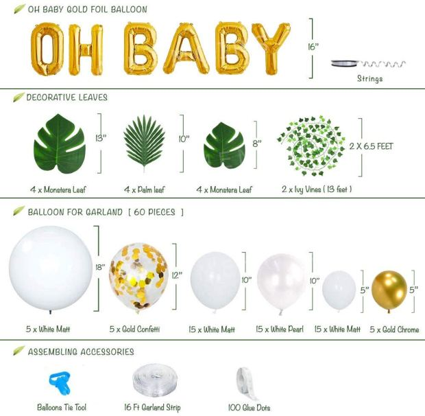 Ola Memoir Neutral Baby Shower Decorations