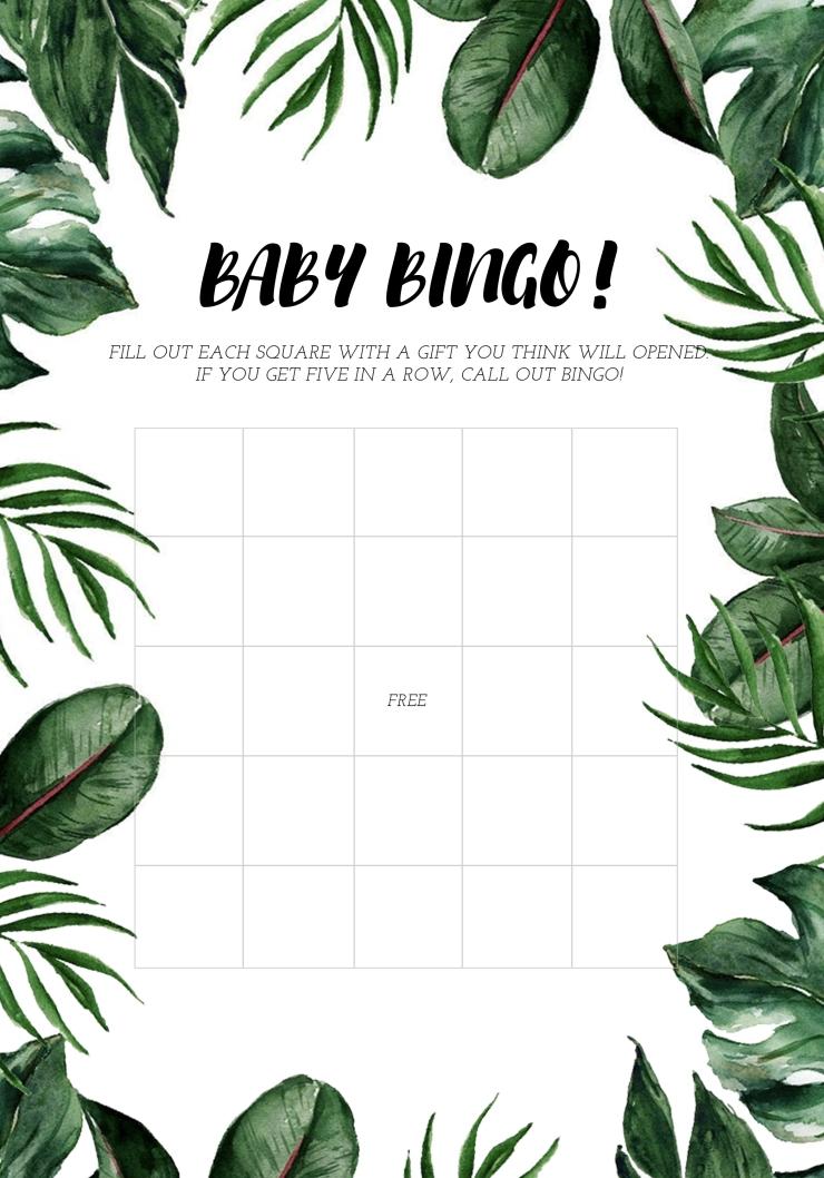 Jungle Bingo Baby Shower
