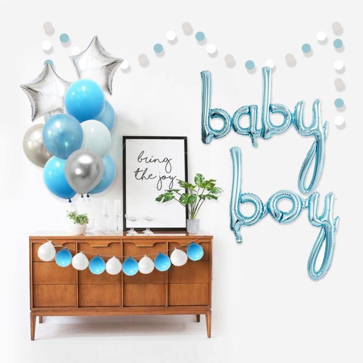 Boy Baby Shower Theme Blue Grey Elephant