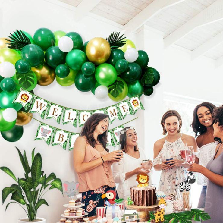 Jungle Baby Shower Decorations Kit Ola Memoirs Amazon
