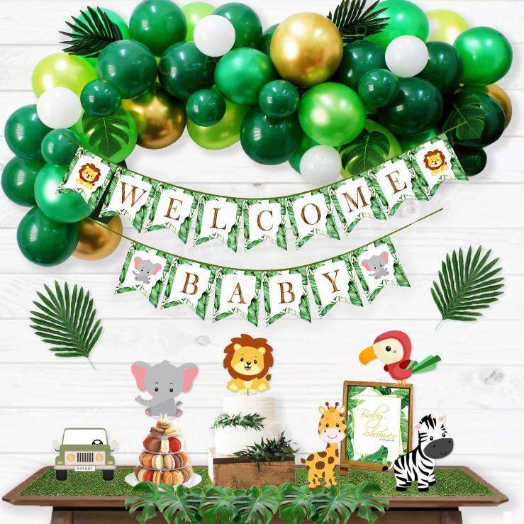 Safari Baby Shower Decorations Kit Ola Memoirs Amazon