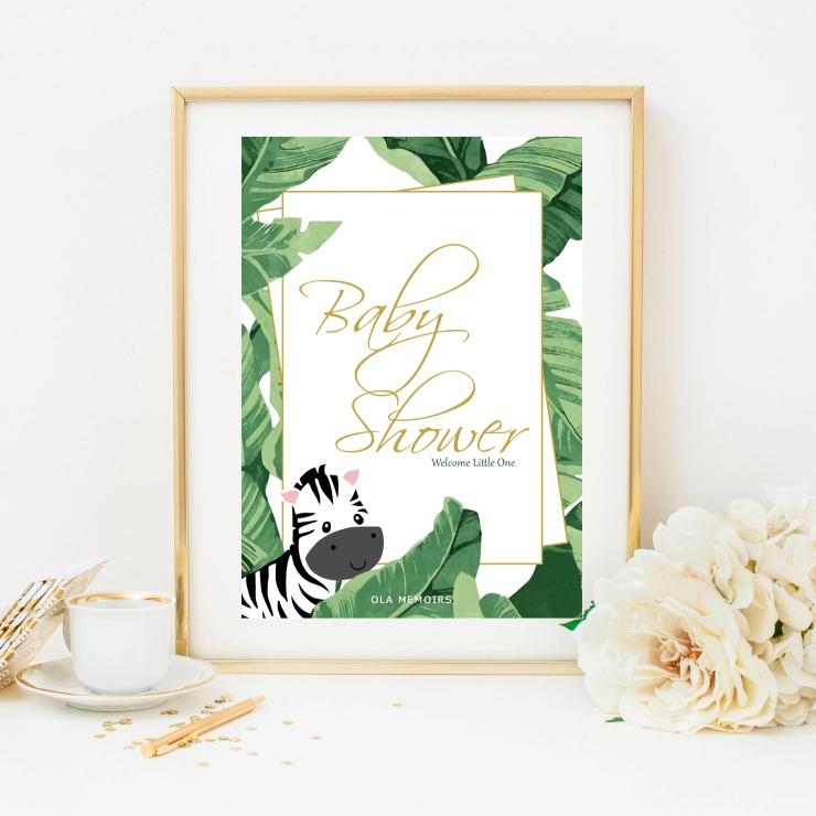 Safari Baby Shower Sign