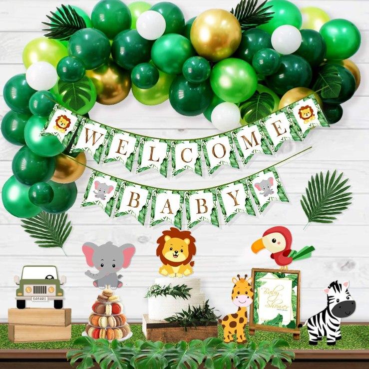 Amazon Safari Baby Shower decorations for boy
