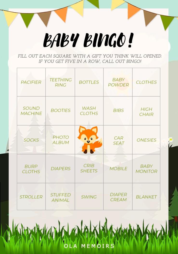 Baby Bingo Woodland