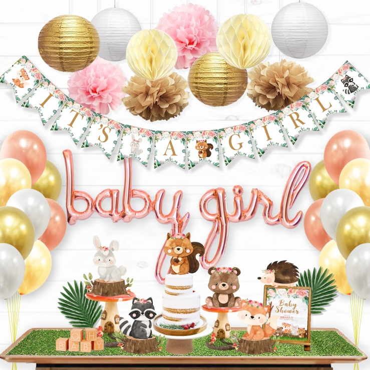 Woodland Baby Shower Decorations for Girl