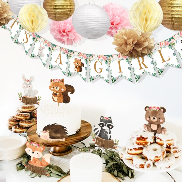 Woodland Party Plates and Invitations
