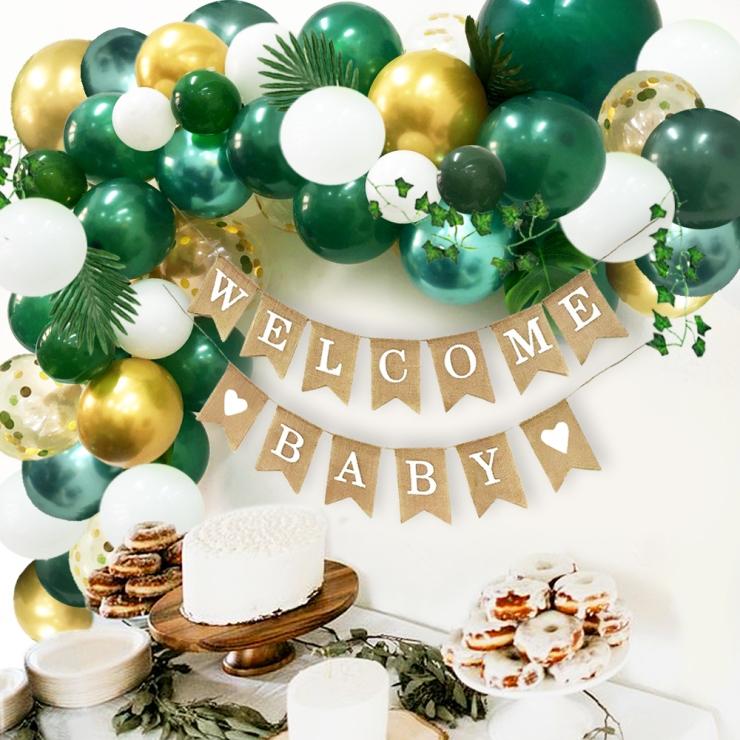 Green garland Balloon Arch Kit Jungle