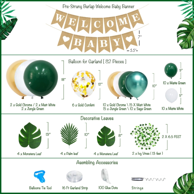 jungle theme baby shower decorations for boy